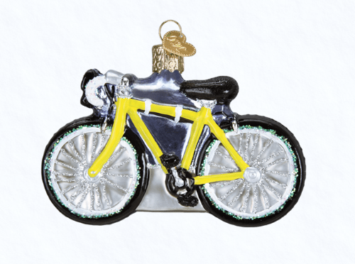 old world christmas road bike ornament