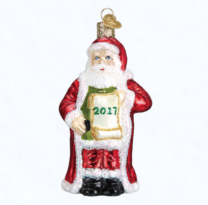 old world christmas 2017 santa with list ornament