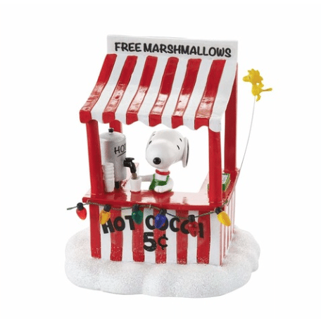 department 56 snoopy cocoa stand