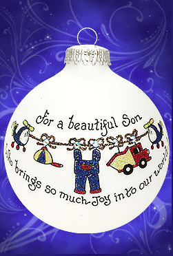 for a son that brings so much joy to our world ornament