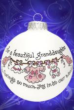 beautiful granddaughter ornament