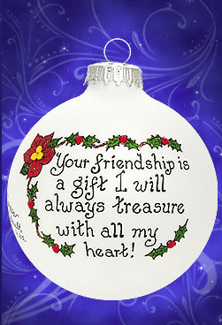 your friendship is a gift to treasure ornament