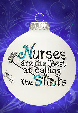 nurses are the best at calling shots ornament