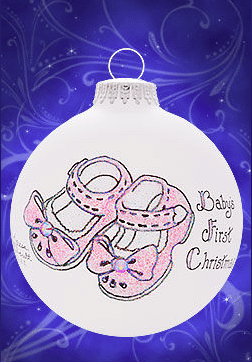 baby first christmas baby girl bootie ornament