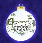 engaged angel ornament