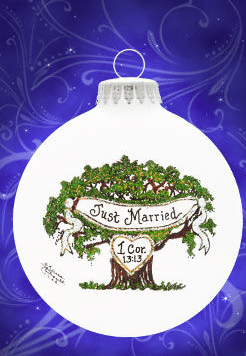 just married tree ornament