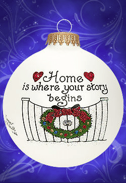 home is where your story begins ornament