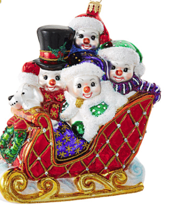 christopher radko snow family fun ornament
