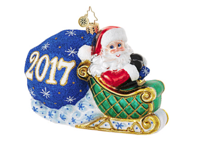 christopher radko no looking back 2017 ornament