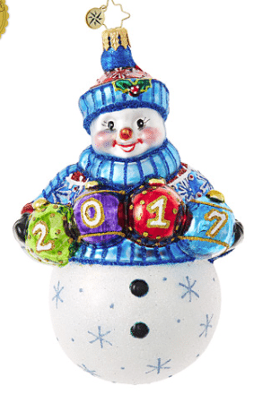 christopher a fun and frosty year 2017 ornament