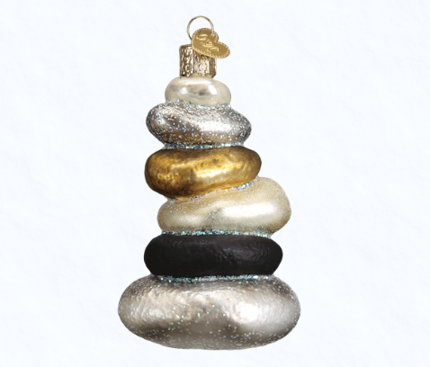 old world christmas yoga stones ornament