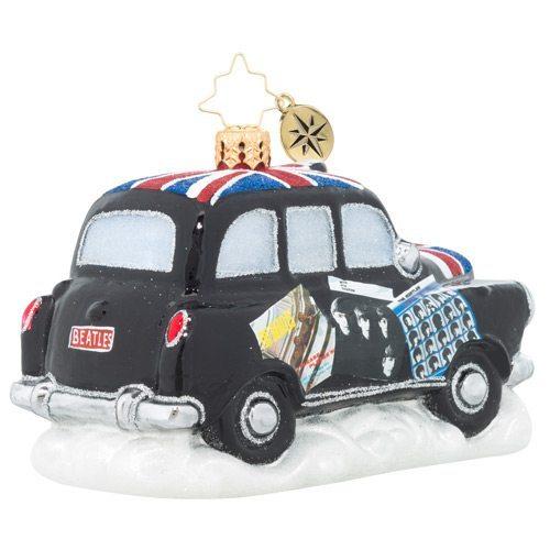 christopher radko beatles album cover cab ornament