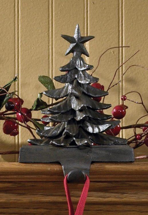iron christmas tree stocking holder