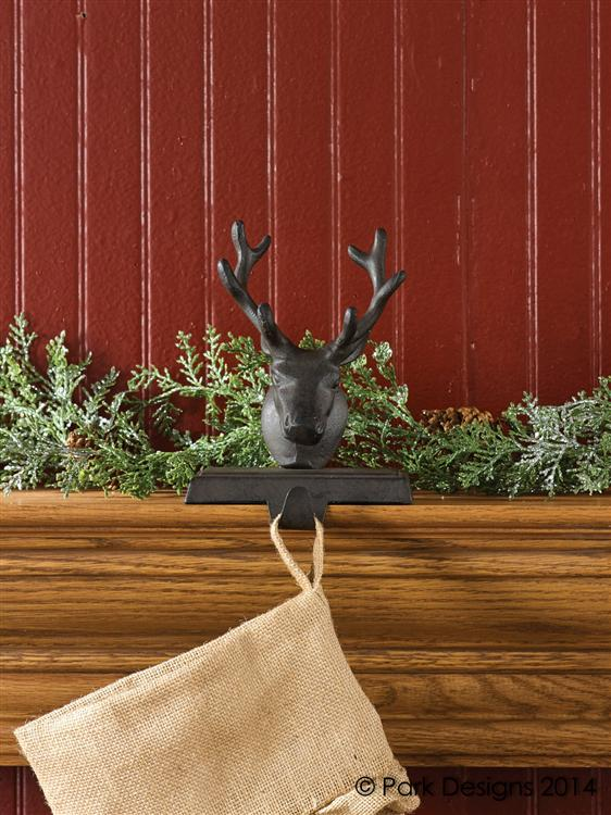 iron reindeer stocking holder