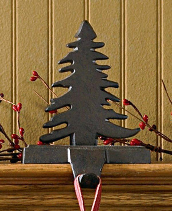 iron fir tree stocking holder