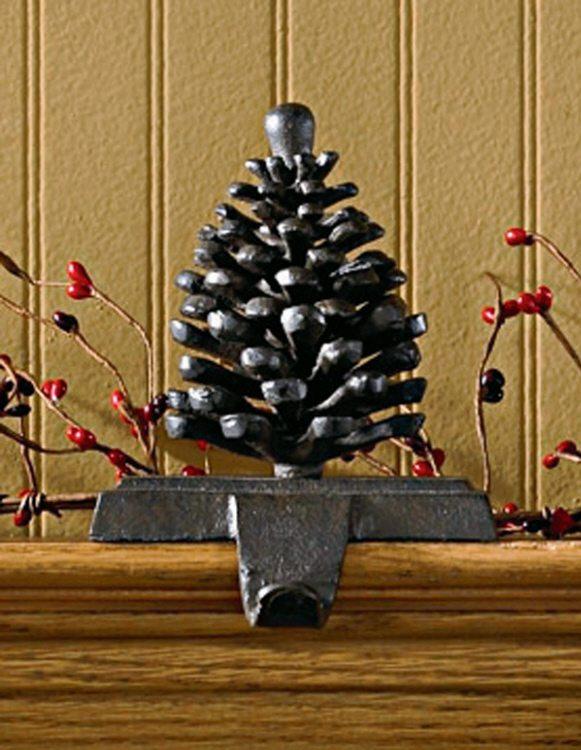 iron pinecone stocking holder