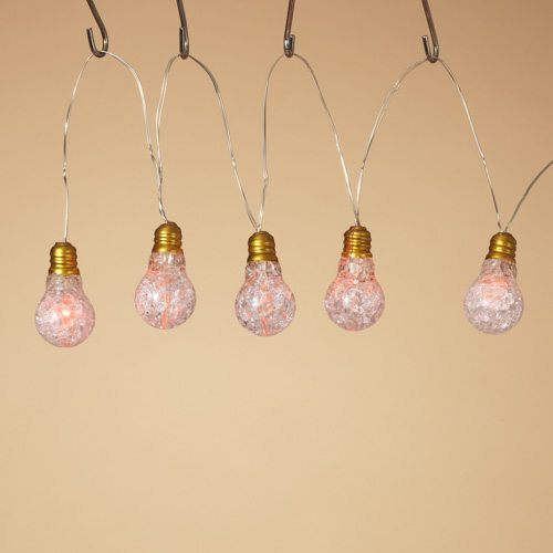 10 battery operated led multi color twinkle bulbs