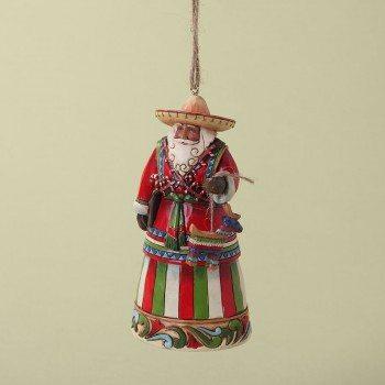 jim shore feliz navidad mexican santa ornament