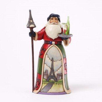 jim shore bonjour and merry christmas french santa figurine