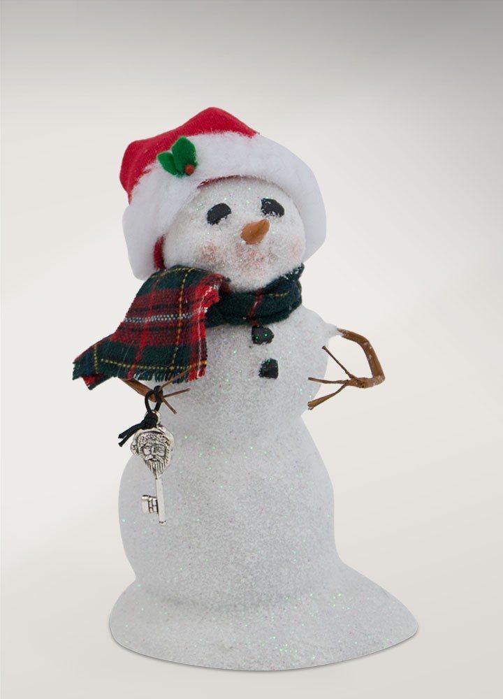 byers choice small snowman with santa keys