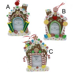 gingerbread house frame ornaments