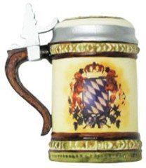 glass german beer stein ornament