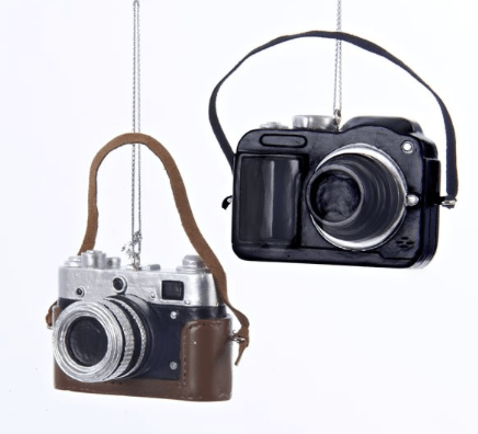 classic or digital camera ornament
