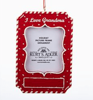 i love grandma frame ornament