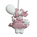 sweet granddaughter snowman ornament