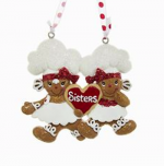 gingerbread sisters ornament