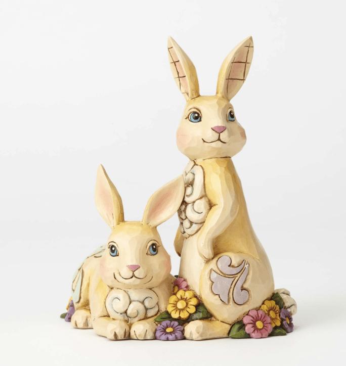 jim shore double bunnies