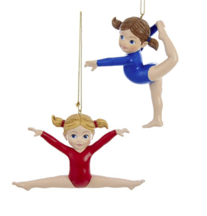 gymnast girl ornaments
