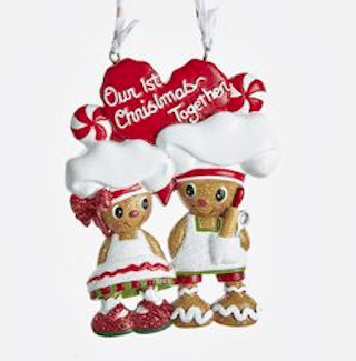 our first christmas gingerbread couple ornament