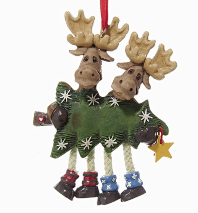 moose family of 2 ornament