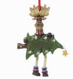 moose with tree ornament