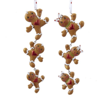 boy or girl gingerbread dangle ornament