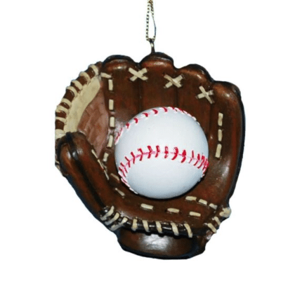 baseball and glove ornament