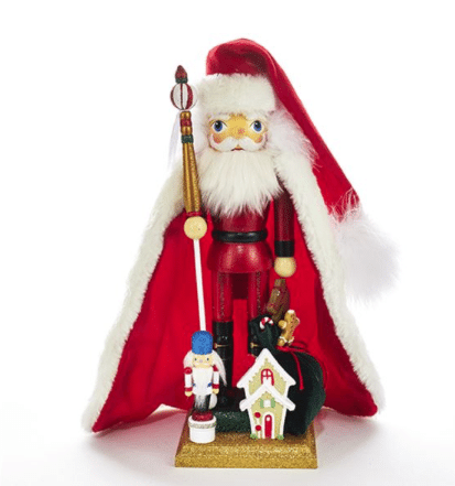 15 inch santa with gingerbread house nutcracker