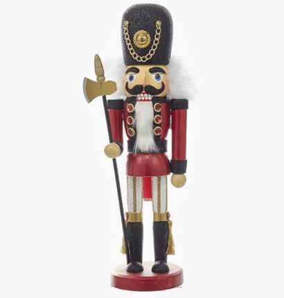 15 inch red and black traditional soldier nutcracker
