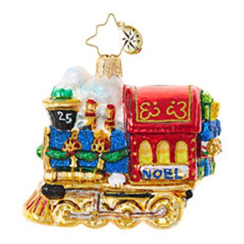 christopher radko all aboard little gem ornament