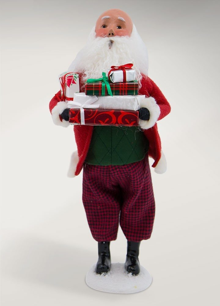 byers choice bald santa with packages