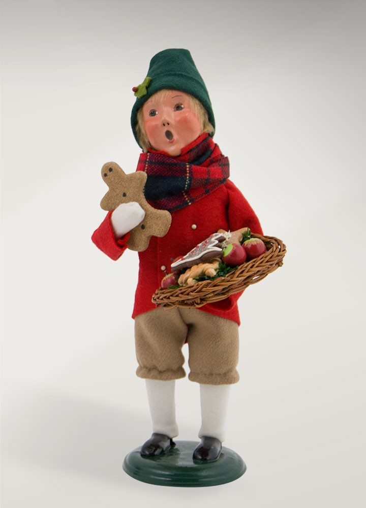 byers choice boy with gingerbread