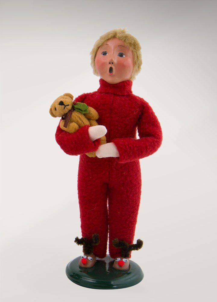byers choice boy with teddy bear