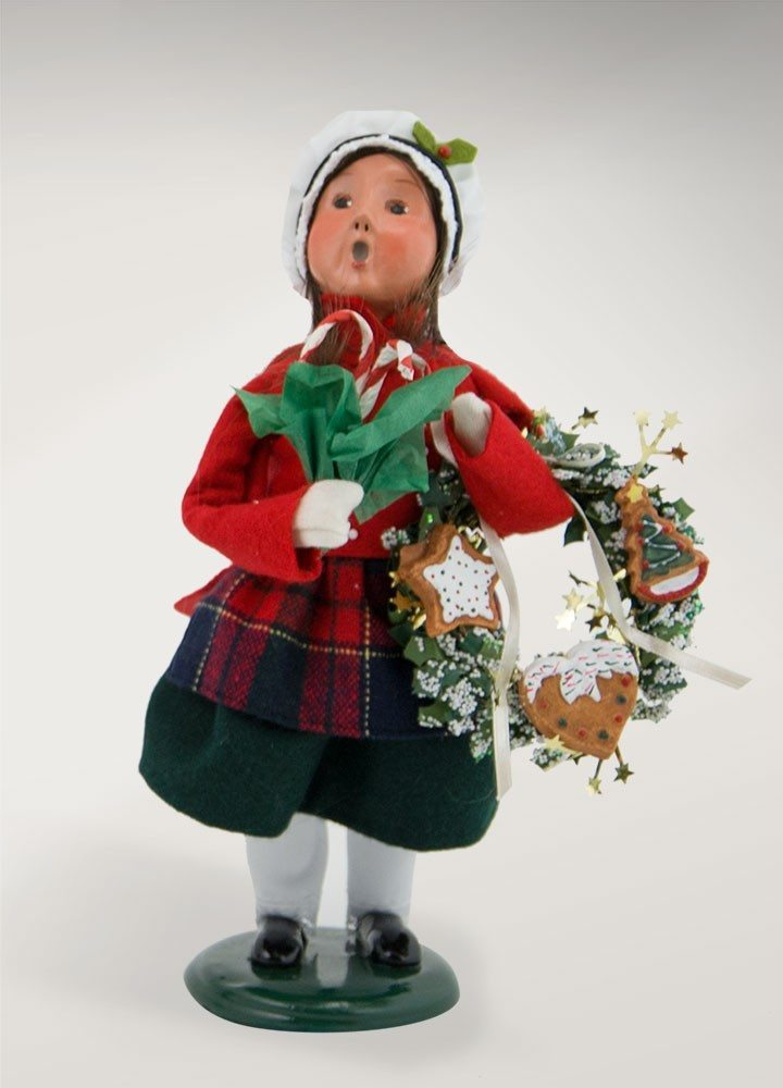 byers choice girl with gingerbread