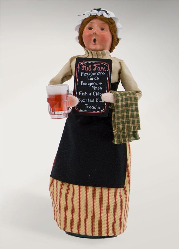 byers choice pub woman