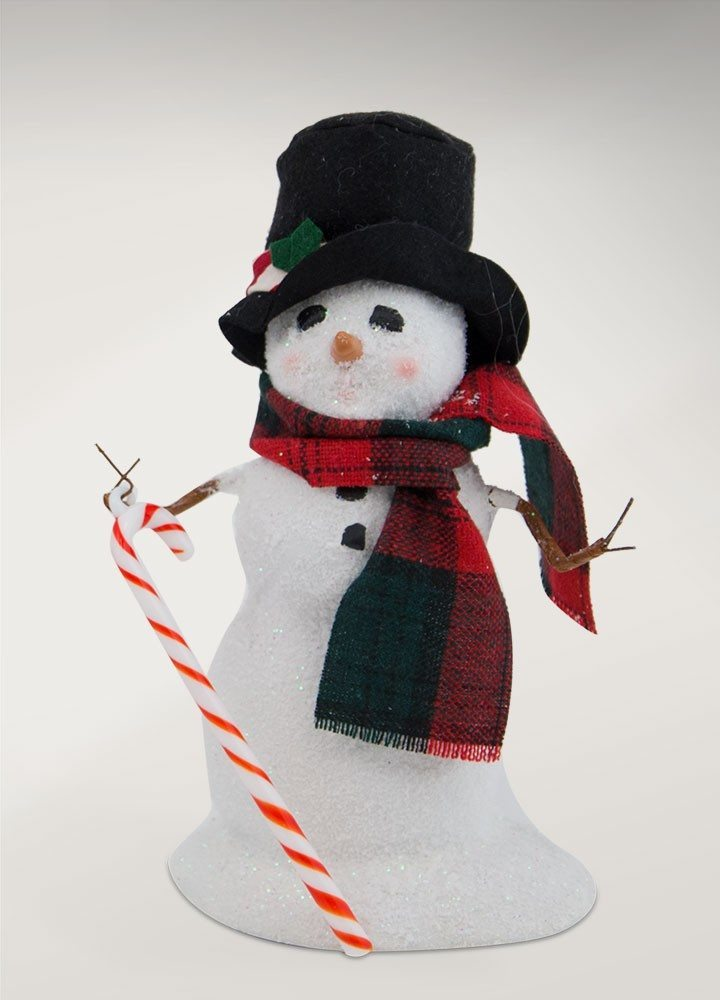 byers choice small snowman with candy cane