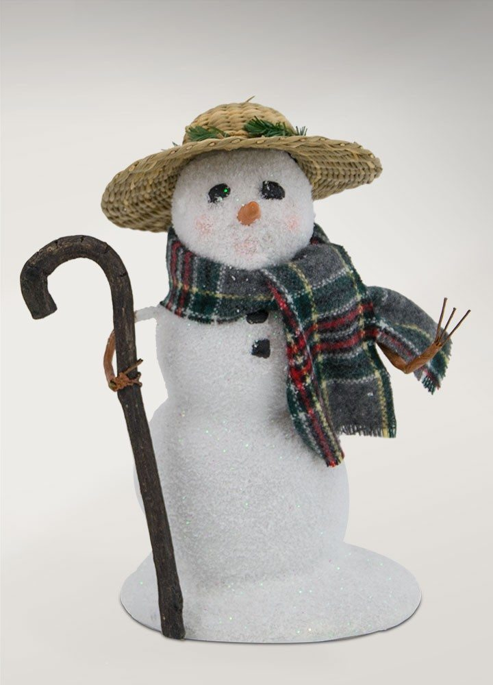 byers choice small snowman with straw hat