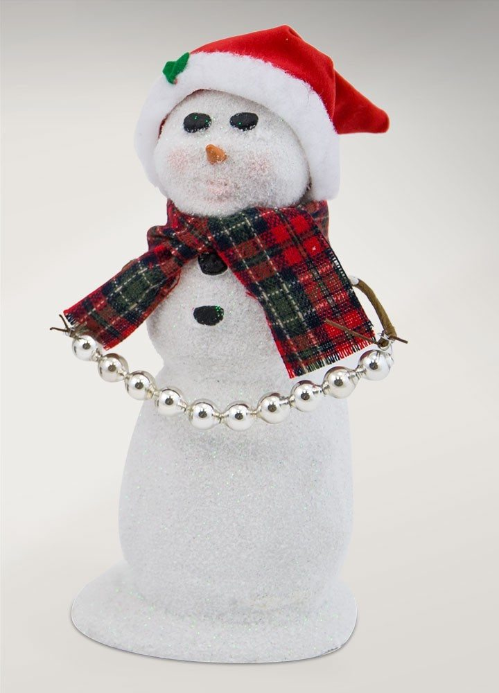 byers choice snowman with santa hat