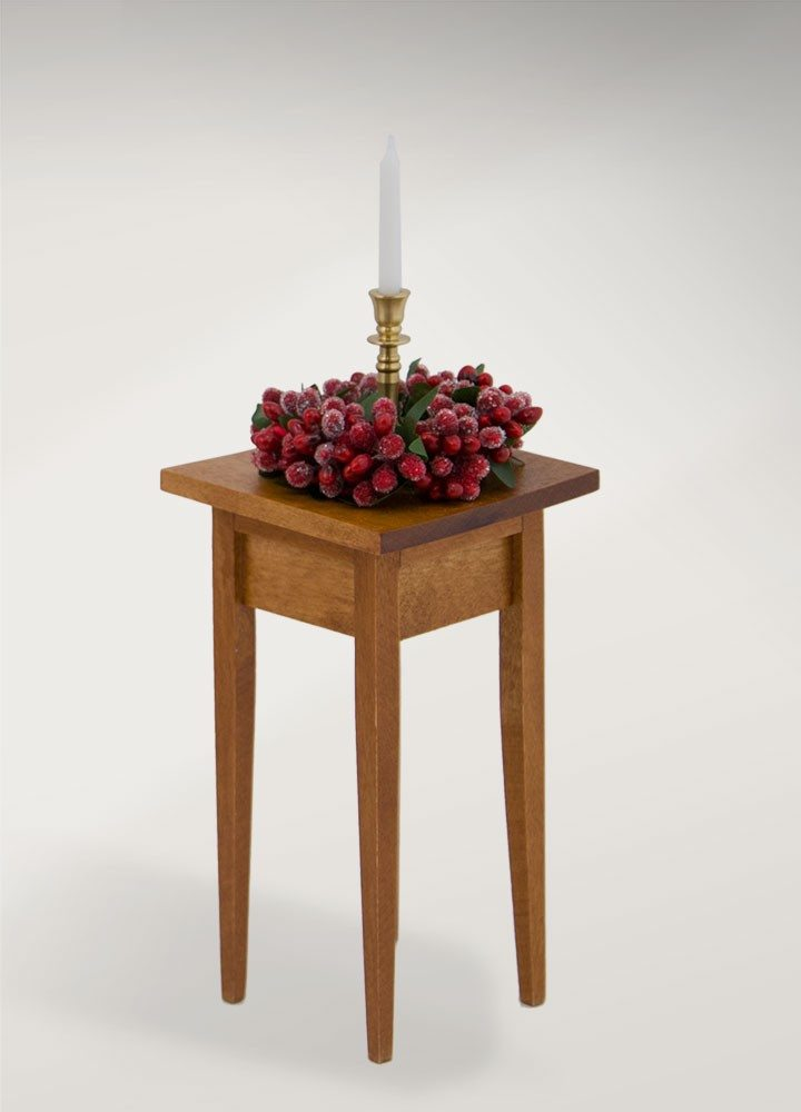 byers choice table with candlestick