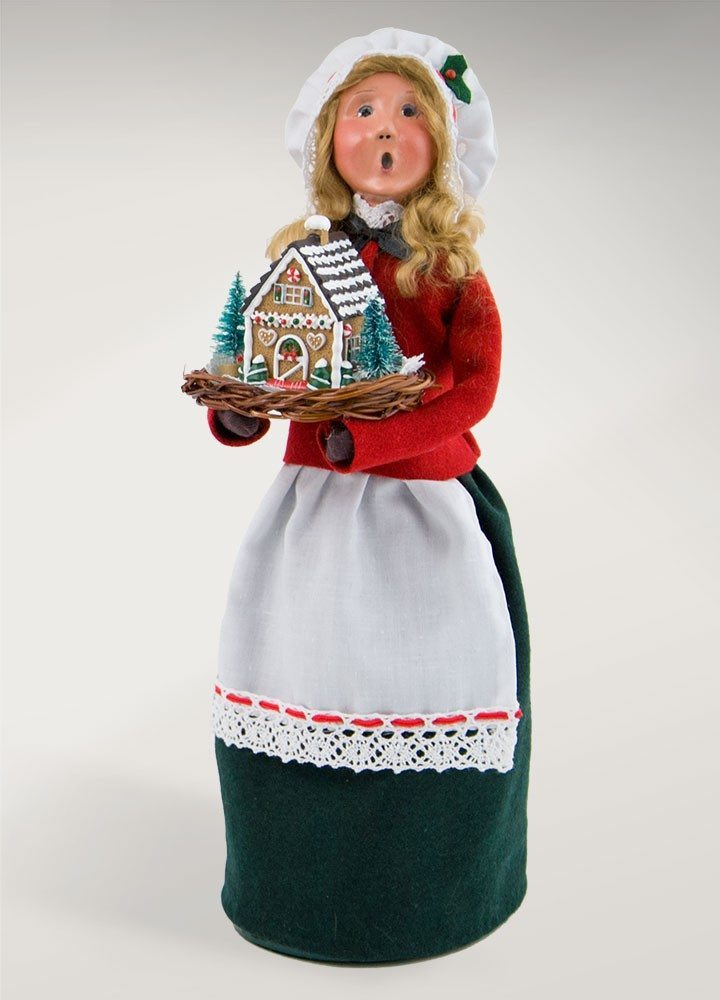 byers choice woman with gingerbread